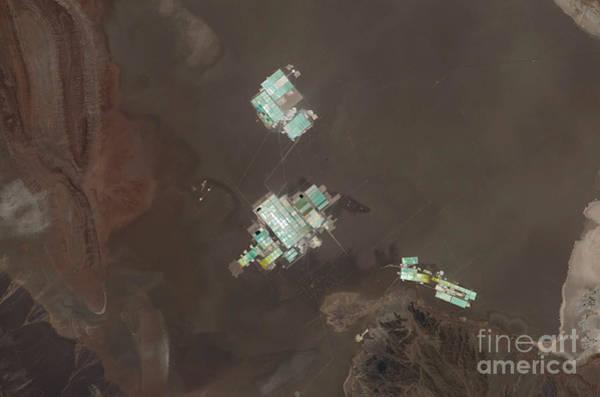 Salar De Atacama Photograph - Evaporation Ponds, Salar De Atacama by NASA/Science Source