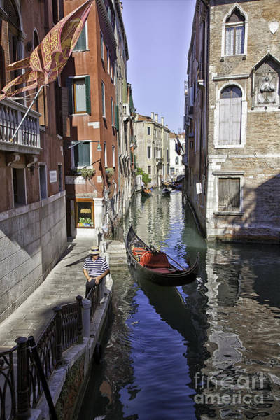 Wall Art - Photograph - Even A Gondolier Has To Take A Break by Madeline Ellis