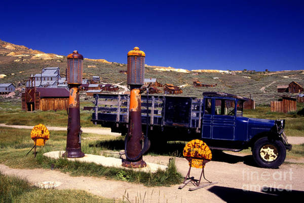 Bodie Ghost Town Wall Art - Photograph - Even The Gas Is Old by Paul W Faust -  Impressions of Light