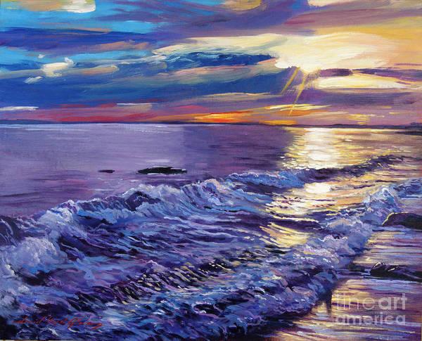Painting - Evening Coastline by David Lloyd Glover