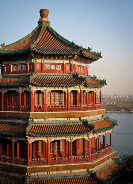 Beijing Photograph - Evening Temple Of The Fragrant Buddha by Mike Reid