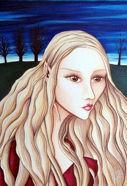 Drawing - Eventide by Danielle R T Haney