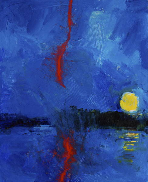 Painting - Ever See Red Lightening - Me Neither by Cliff Spohn