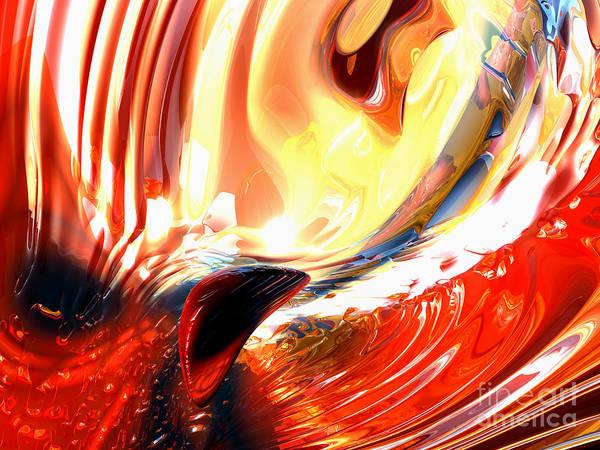 Wall Art - Digital Art - Evil Intent Abstract by Alexander Butler
