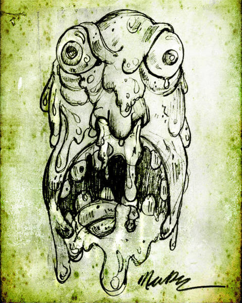 Drawing - Evil Snot Monster by Nada Meeks