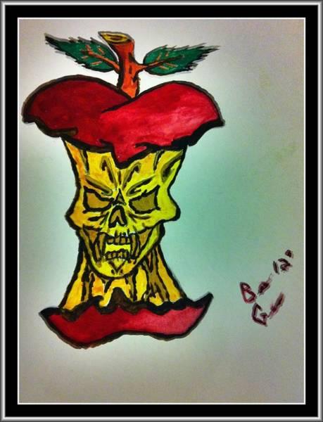 Tattoo Flash Painting - Evil To The Core by Brett Genda