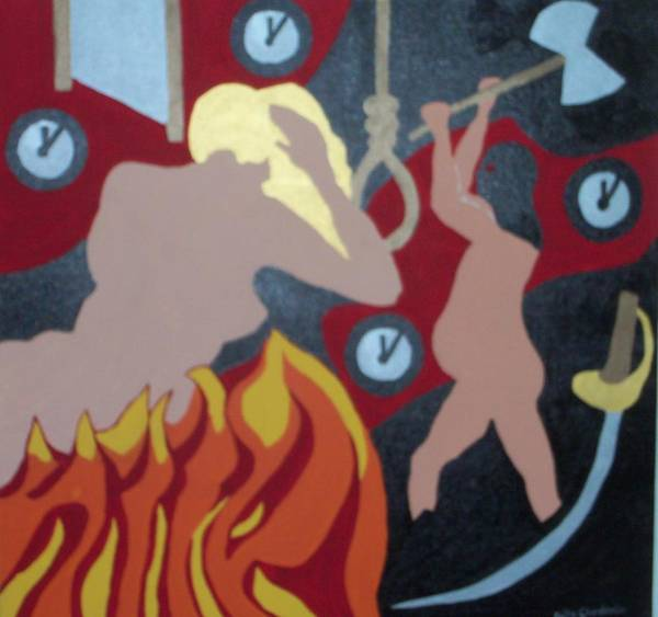Flaming Sword Painting - Executed by Erika Chamberlin