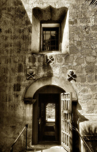Mission Santa Barbara Photograph - Exit From The Cemetery by Steven Ainsworth