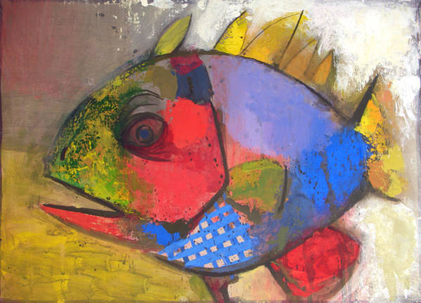 Wall Art - Painting - Exotic Fish by Yuri Yudaev-Racei