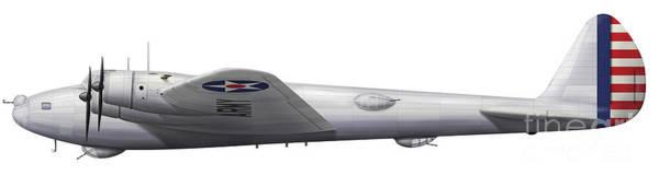 Digital Art - Experimental Boeing Xb-15 Bomber by Chris Sandham-Bailey