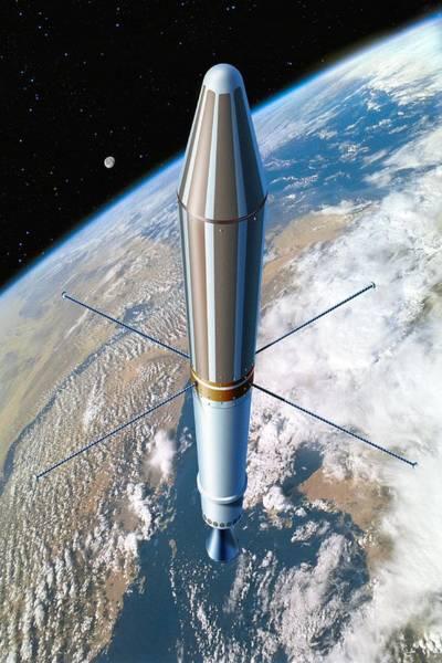 Jet Propulsion Laboratory Photograph - Explorer 1 In Orbit, Artwork by Detlev Van Ravenswaay