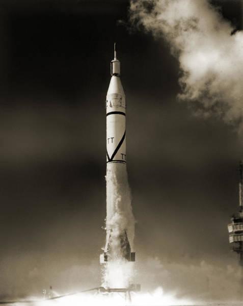 Jet Propulsion Laboratory Photograph - Explorer 4 Launch by Nasavrs