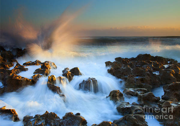 Crashing Waves Photograph - Explosive Dawn by Mike  Dawson