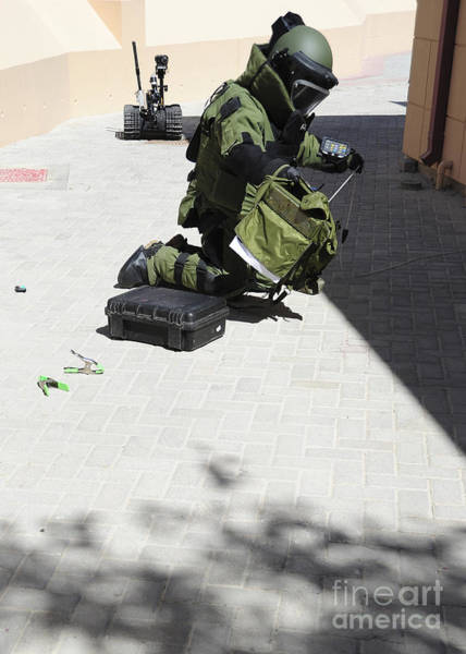 Bahrain Photograph - Explosive Ordnance Disposal Technician by Stocktrek Images