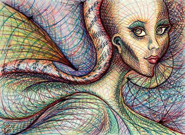 Drawing - Exposed by Danielle R T Haney