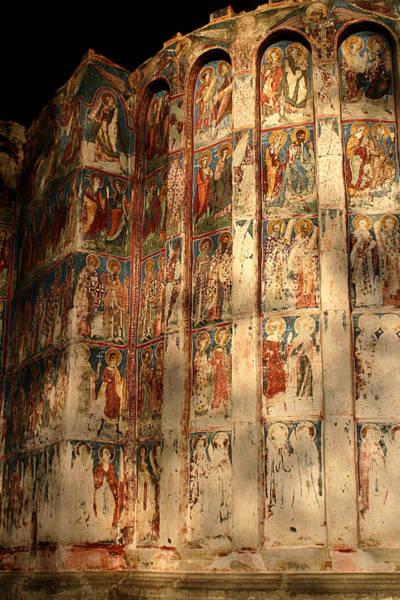 Photograph - Exterior Fresco Of Humor Monastery by Emanuel Tanjala