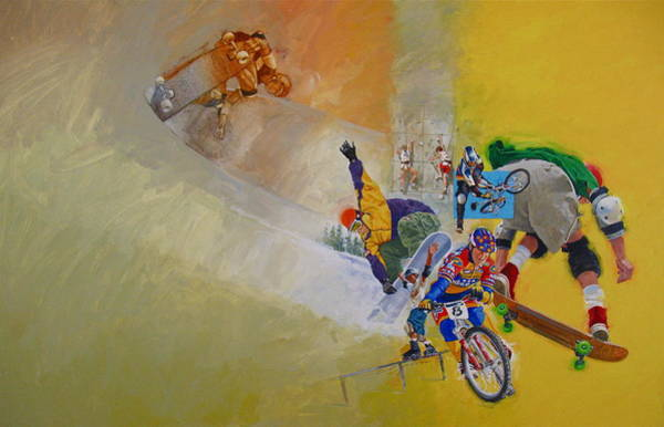 Painting - Extreme Sports by Cliff Spohn