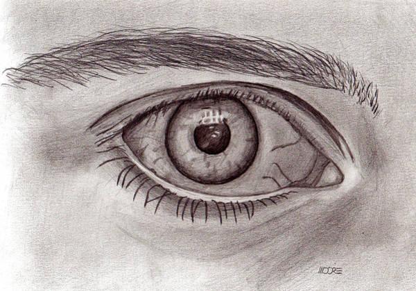Drawing - Eye by Pat Moore