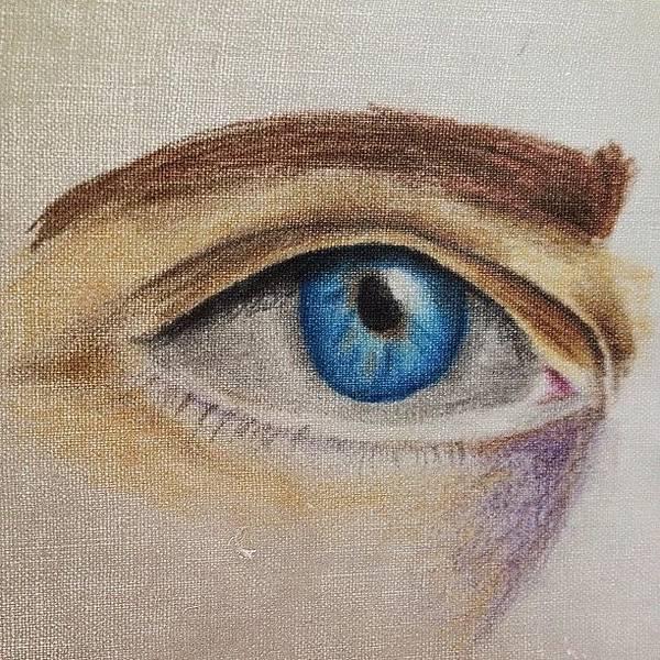Grace Wall Art - Photograph - Eye Sketch #picfx #canvas #sketch by Grace Shine