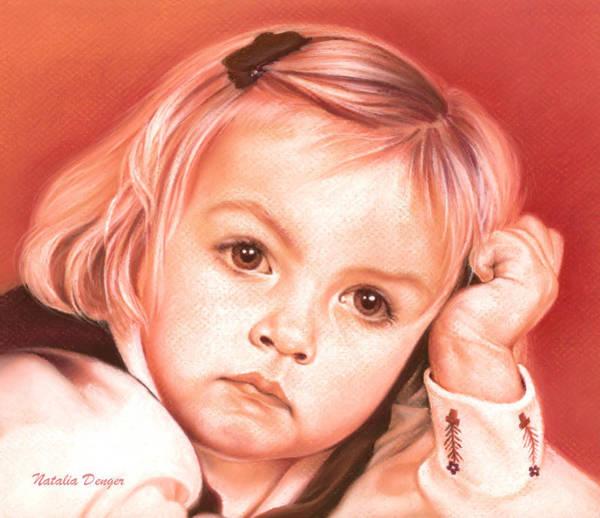 Wall Art - Drawing - Eyes Of A Little Girl by Natasha Denger