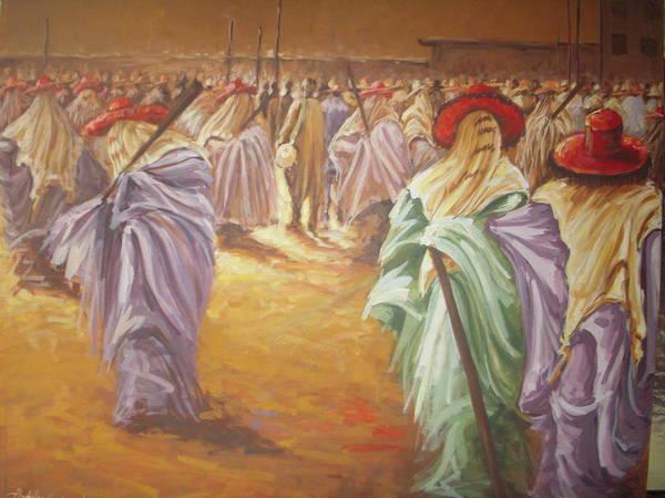 Lagos Painting - Eyo Festival by Abubakar  Nurudeen