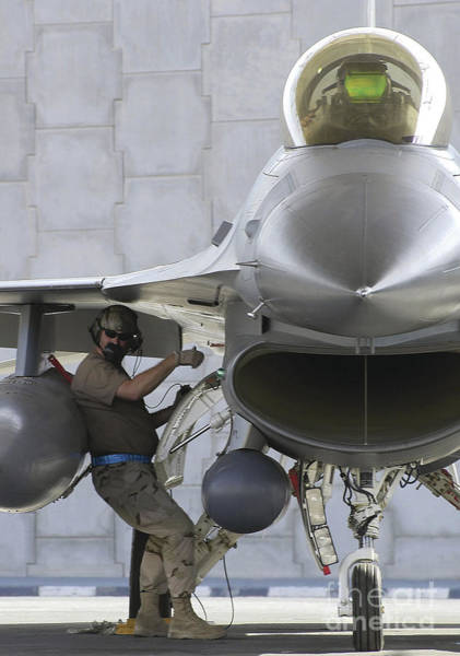 Photograph - F-16 Fighting Falcon Is Ready To Head by Stocktrek Images