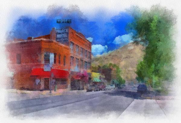 Digital Art - F And S Salida Watercolor by Charles Muhle
