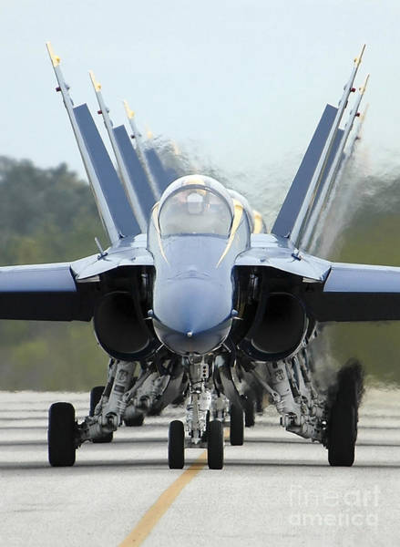 Photograph - Fa-18a Hornets Assigned To The Blue by Stocktrek Images