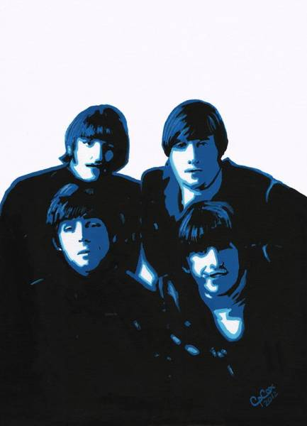 Chris Cox Painting - Fab Four by Chris Cox