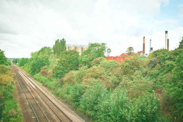 Factory And Trainlines Art Print