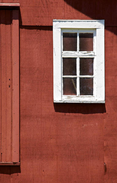 Photograph - Faded Red Wood Farm Barn by David Letts