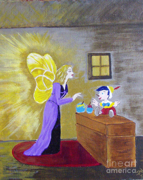 Wall Art - Painting - Fairy Visit by Jane Whyte