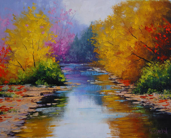Amber Wall Art - Painting - Fall Colors by Graham Gercken