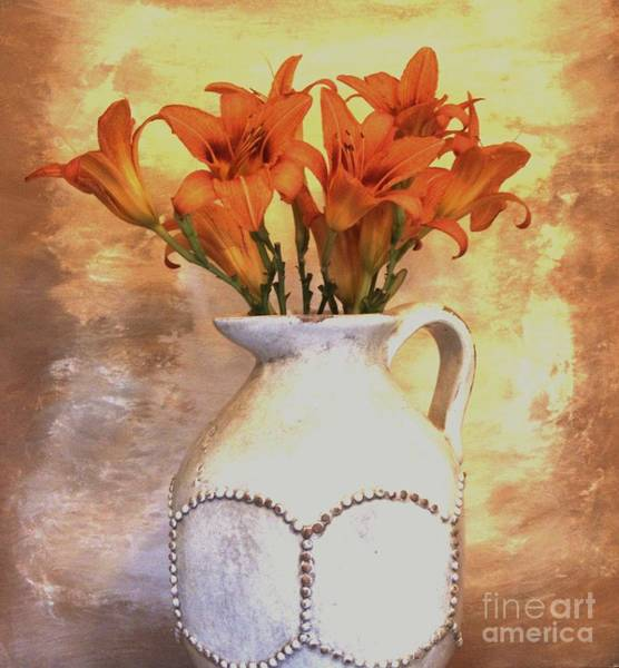 Tigerlily Wall Art - Photograph - Fall Flowers For You by Marsha Heiken