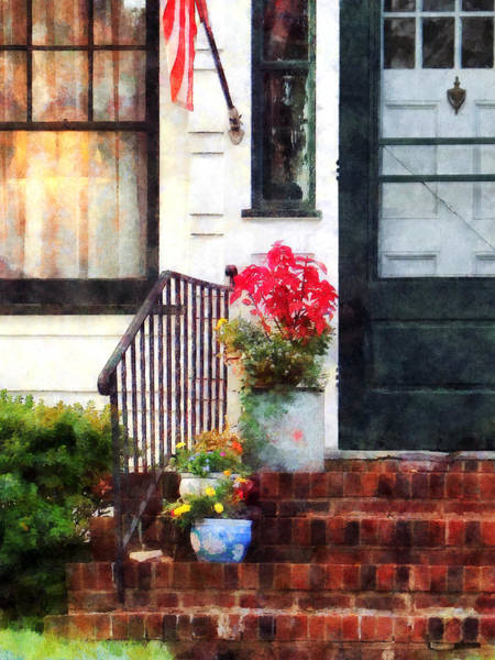 Photograph - Fall Flowers In Fancy Pots by Susan Savad