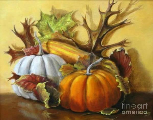 Wall Art - Painting - Fall Gatherings by Patricia Lang