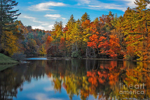 Photograph - Fall Reflection by Ronald Lutz