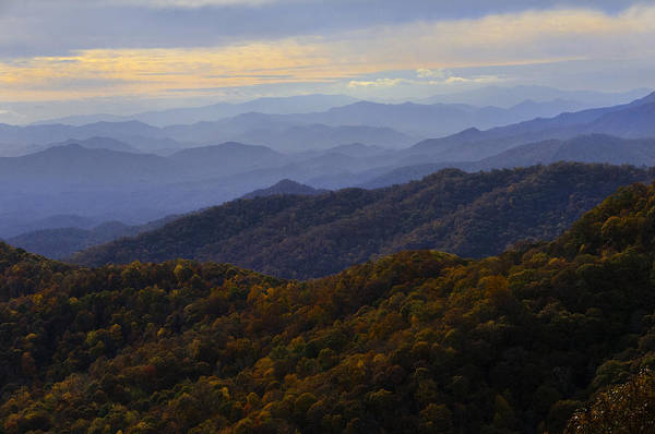 Photograph - Fall Sunset On The Blue Ridge by Lynn Bauer
