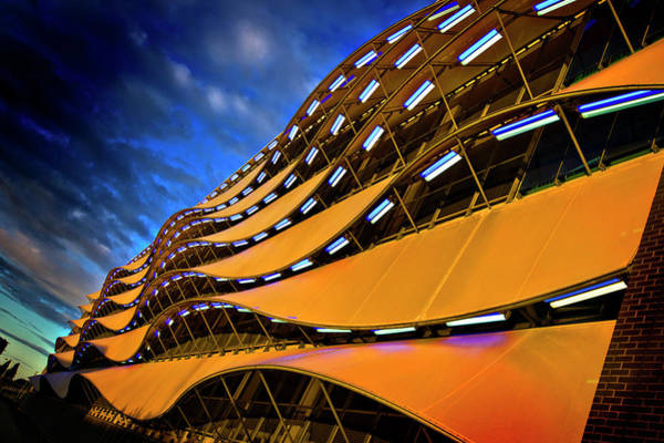 Photograph - Fancy Cardiff Carpark Facade by Meirion Matthias