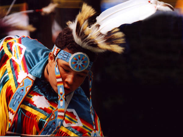 Mixed Media - Fancy Dancer At Pow Wow by Bruce Ritchie