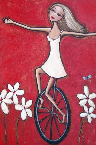 Dragon Fly Painting - Fancy Free by Denise Daffara