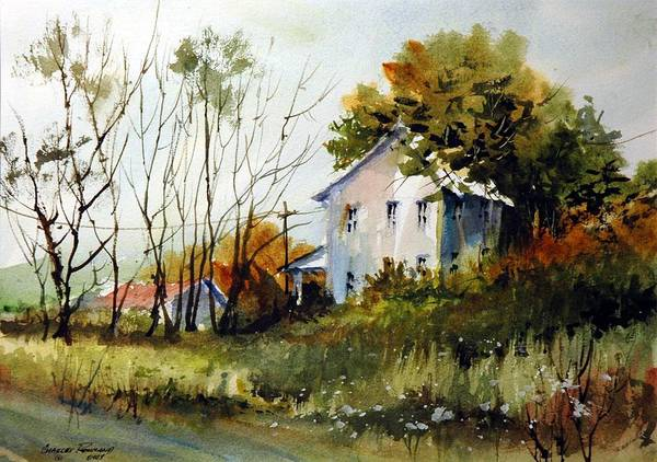 Painting - Farmhouse At Glacier Ridge by Charles Rowland