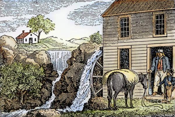Photograph - Farming: Millhouse by Granger