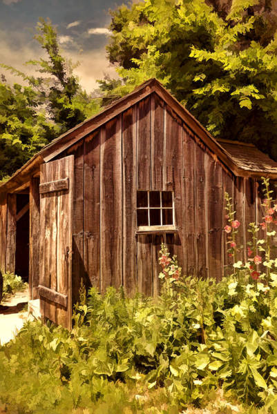 English Garden Photograph - Farming Shed by Lourry Legarde