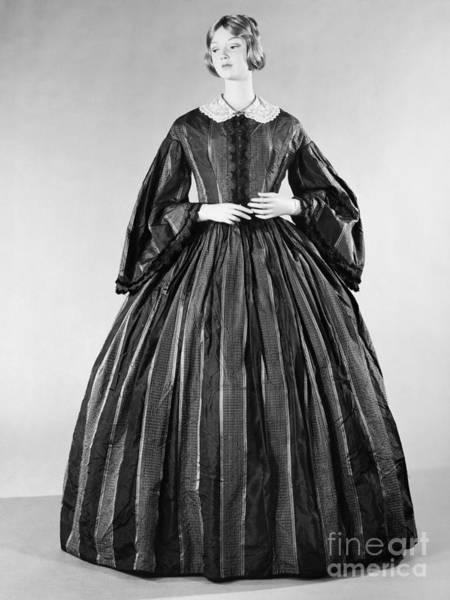 Photograph - Fashion: Dress, C1860 by Granger