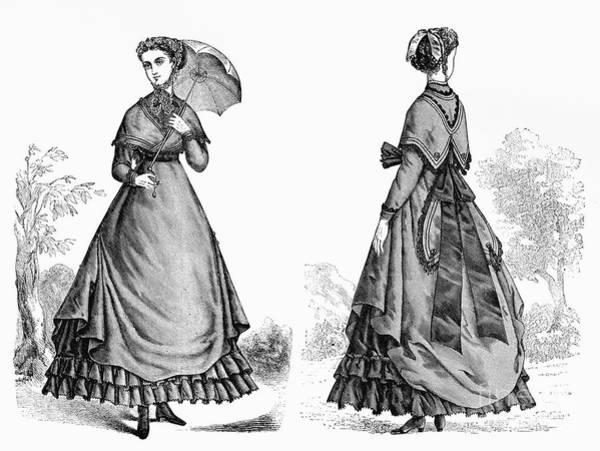 Photograph - Fashion: Women, 1868 by Granger
