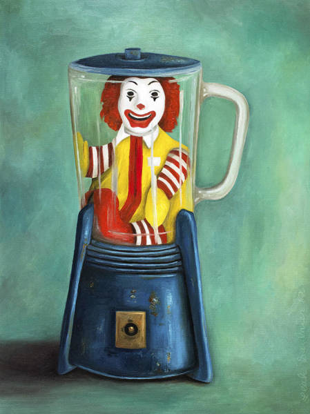 Painting - Fast Food Nightmare 2 The Happy Meal by Leah Saulnier The Painting Maniac