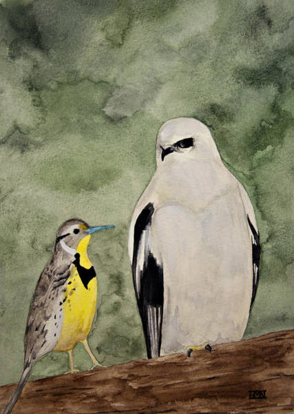 Meadow Lark Painting - Father And Son by Heather M Nelson