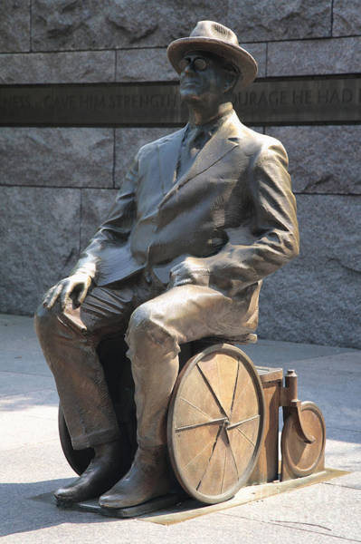 Photograph - Fdr In Wheelchair At His Memorial In Washington Dc by William Kuta