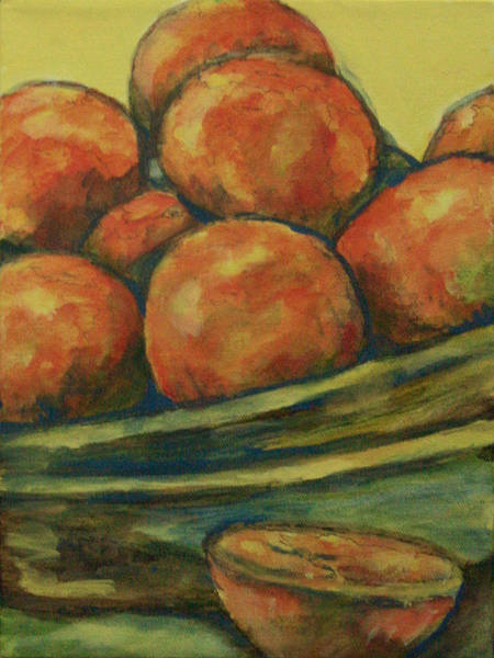 Wall Art - Painting - Feast Of Oranges by Laura Heggestad